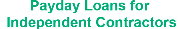 loans for independent contractors